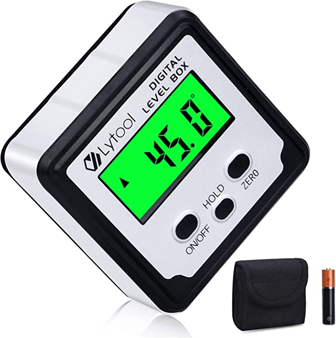 192 opinioni per Lytool- Digitale Goniometro Angle Finder, 2 * 180 °, LCD e Retroilluminazione,