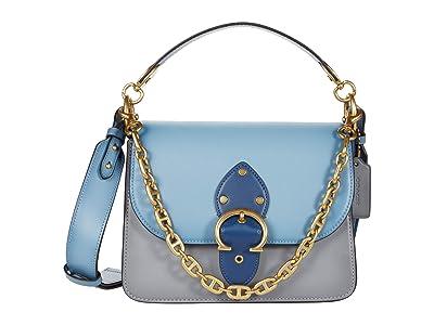 COACH Color-Block Leather Beat Shoulder Bag