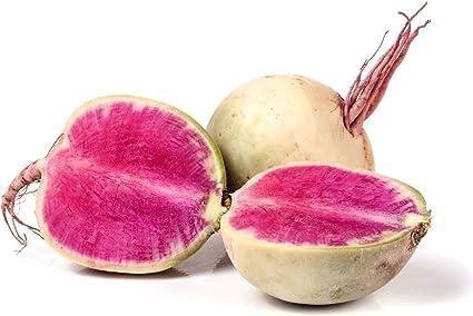SEEDS NON-GMO healthy food hairloom USA Watermelon Radish Seeds 50 Radish