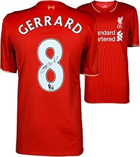 2c6b70388 Steven Gerrard Liverpool Autographed 2015-2016 Red Jersey - ICONS -  Fanatics Authentic Certified -
