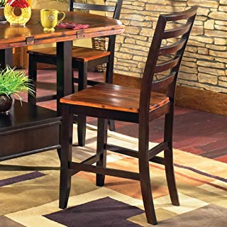Steve Silver Furniture Abaco Counter Height Dining Chair in Multi-Step Acacia [Set of 2]