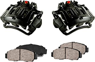 CCK02399 [2] REAR Performance Black Powder Coated Calipers + [4] Quiet Low Dust Ceramic Brake Pads