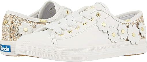 White Leather/Glitter