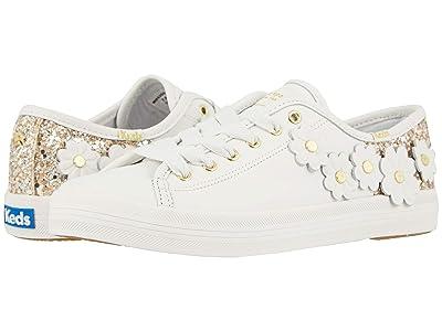 Keds x kate spade new york Kickstart Glitter Appliques (White Leather/Glitter) Women