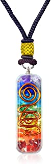 Orgone Chakra Healing Pendant with Adjustable Cord – 7 Chakra Stones Necklace for EMF Protection and Spiritual Healing