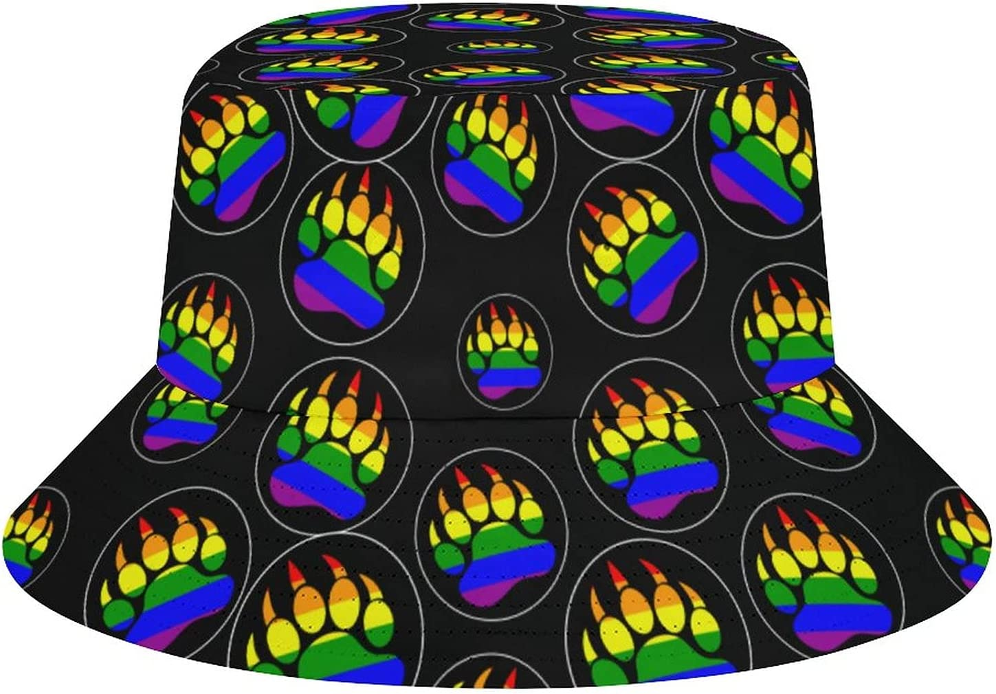 WEEDKEYCAT LGBT Gay Max 45% OFF Pride Rainbow Challenge the lowest price of Japan ☆ Bear Print Bucket Paw Sun Hat