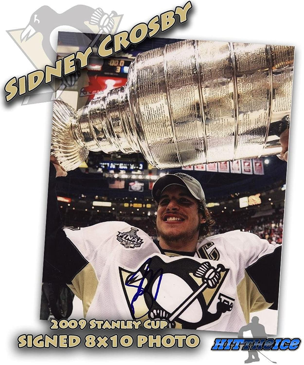 Sidney Crosby Autographed Photo  2009 Stanley Cup 8X10 w COA  Autographed NHL Photos
