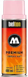 Molotow Belton Premium Artist Spray Paint, 400ml Can, Piglet Pink Light, 1 Each (327.168)