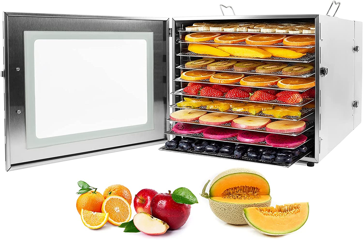 latest Food Dehydrator 1000W 10 famous Trays Electric Use Stai Home Commercial