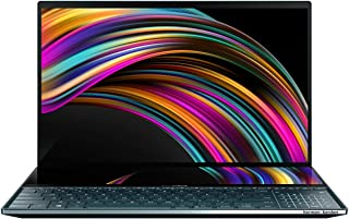 Asus ZenBook Pro Duo UX581GV-H2001TS  Laptop (Celestial Blue)- Intel i9-9980HK 5.0 GHz, 32GB RAM, 1TB SSD, Nvidia GeForce RTX 2060(6GB GDDR6), 15.6 inches 4K UHD OLED Touch, Windows 10, Eng-Arb-KB