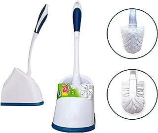 Scotch-Brite Premium Toilet Plastic Brush with Round Container (Blue/White) (Blue/White)