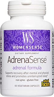 WomenSense AdrenaSense by Natural Factors, Herbal Supplement for Adrenal Support and Stress Relief, Vegan, Non-GMO, 60 cap...