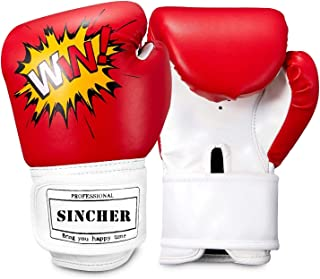 SINCHER Boxing Gloves Kids 8oz for Boys and Girls, Training Gloves, Training Mitts Junior, Youth Boxing Training Gloves Ag...