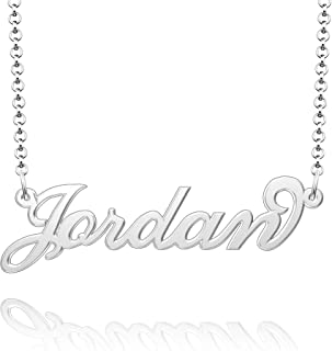 Personalized Name Necklace Sterling Silver Pendant...