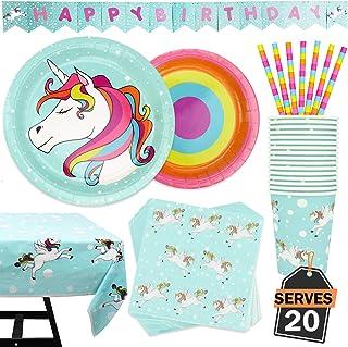 102 قطعه لوازم جانبی رنگین کمان رنگین کمان شامل پارچه ، بشقاب ، لیوان ، دستمال ، نی و سفره ، میز 20