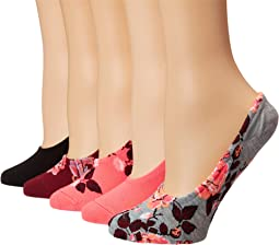 5-Pack Pattern Footies Socks