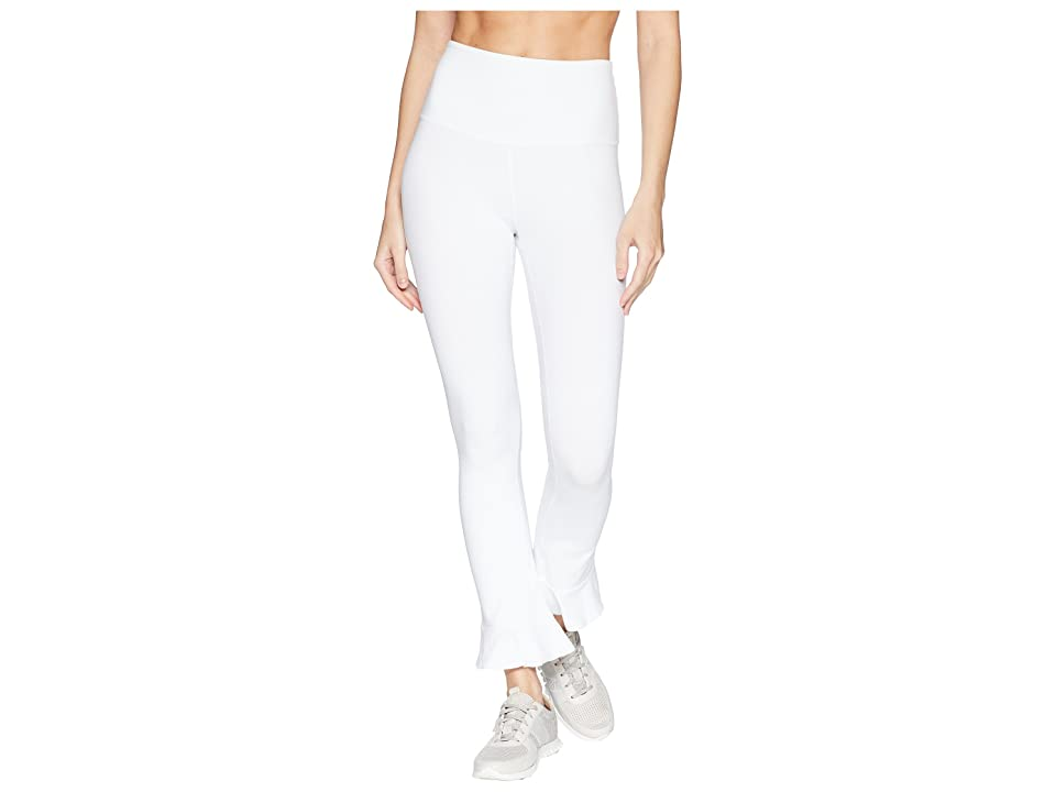 Beyond Yoga Frill Seeker High-Waist Midi Leggings (White) Women