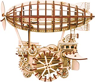 ROKR 3D Wooden Puzzle Self-Assembly Model Kits Gift for Teens and Adults Air Vehicle Model