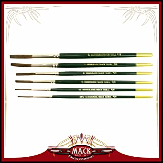 (6) Andrew Mack Brush Hannukaine Quill Brushes Series 79 Size XXS - XL Mixture Squirrel Taklon