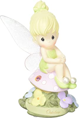 Precious Moments, Disney Showcase Collection, October Fairy As Tinker Bell, Pink Tourmaline, Resin Figurine, 113217