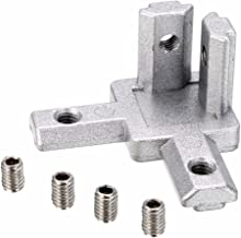 PZRT 4-Pack 2020 Series 3-Way End Corner Bracket Connector, with Screws for Standard 6mm T Slot Aluminum Extrusion Profile