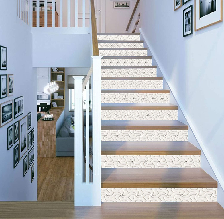 3D Green Square SS665 Pattern Tile Marble Stair Risers Decoration Photo Self-adhesive Mural Vinyl Decal Wallpaper Murals Wallpaper Mural