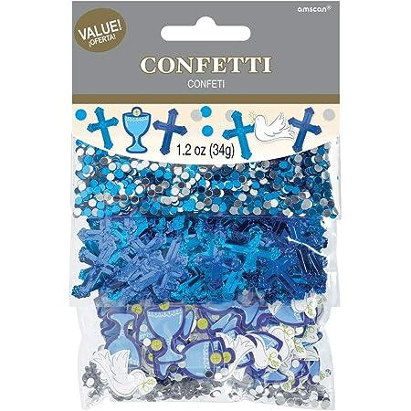 Amscan 360322 Lot de confettis en relief et impression pour communion