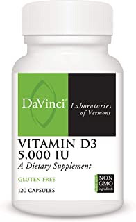 DaVinci Laboratories – Vitamin D3 5000 IU, Bone and Muscle Health Supplement, Gluten-Free, 120 ct.