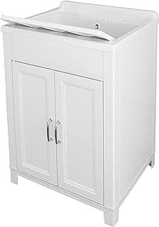 Adventa Lave-Vaisselle en résine intérieur/extérieur 60 x 50 x (H) 85 cm, Blanc, 60 x 50 x 85 h