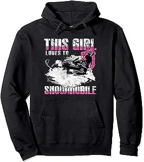 CCANE7 Men's Sudadera con Capucha Personalizada Girl'S Snowmobiling Divertido gráfico Sudadera con Capucha