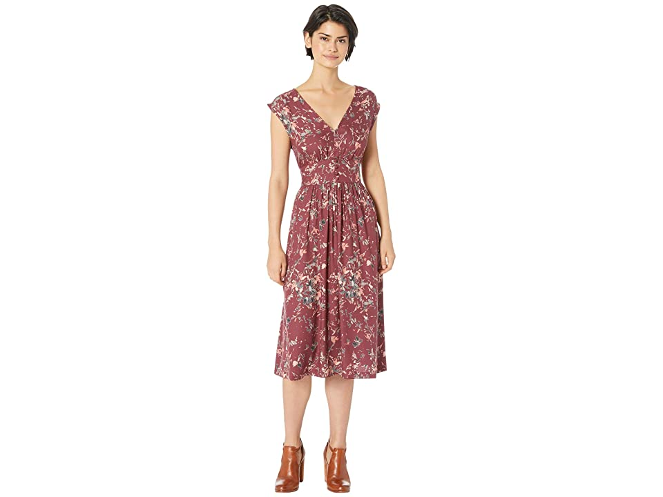 Roxy Retro Poetic Dress (Oxblood Red/Abtract Ditsy) Women