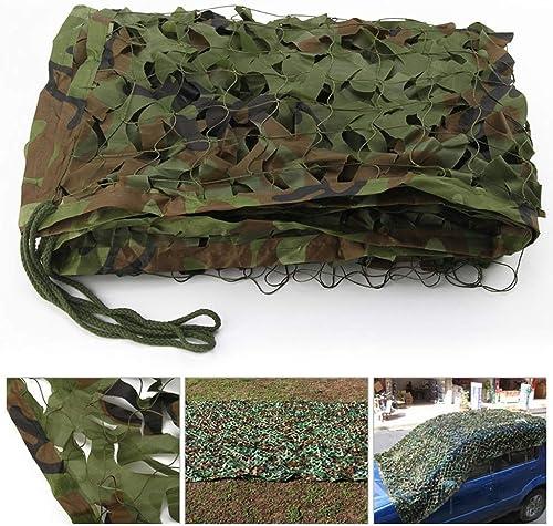 JJWZW Filet de Camouflage - Filet de Prougeection Solaire - Bache de Tente - Convient pour la Chasse Militaire, la Jungle, Le Filet de Camouflage Vert - Différentes Tailles, 5  8M16.4  26.2ft