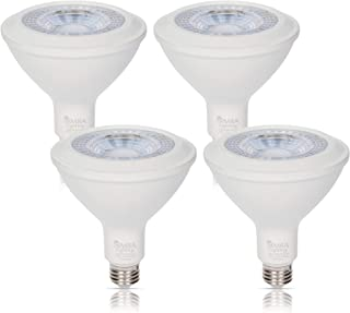 Simba Lighting LED PAR38 Light Bulb 15W 38deg Spotlight Dimmable (4-Pack) for Indoor Recessed Can and Outdoor PAR 38 Security Light, 120V E26 Base, 70W to 100W Halogen Replacement, 3000K Soft White