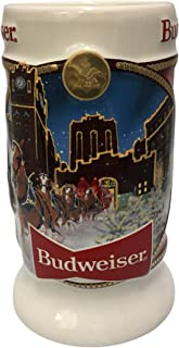 Budweiser 2020 Clydesdale Holiday Stein - Brewery Lights - 41st Edition - Ceramic Beer Mug - Christmas Gifts for Men, Fath...