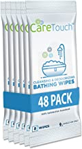 Care Touch Body Wet Wipes with Cleansing & Deodorizing Solution - Shower Wipes for Adults - Great for Gym, Camping, Travel and Bathing (48 Wipes Total)