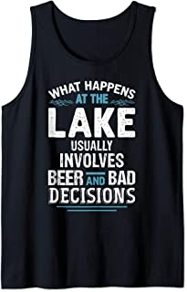 What Happens At The Lake Shirt Lake Life Lake Bum Funny Tank Top