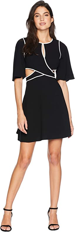 """Gracelynn"" Cut Out Dress with Contrast"
