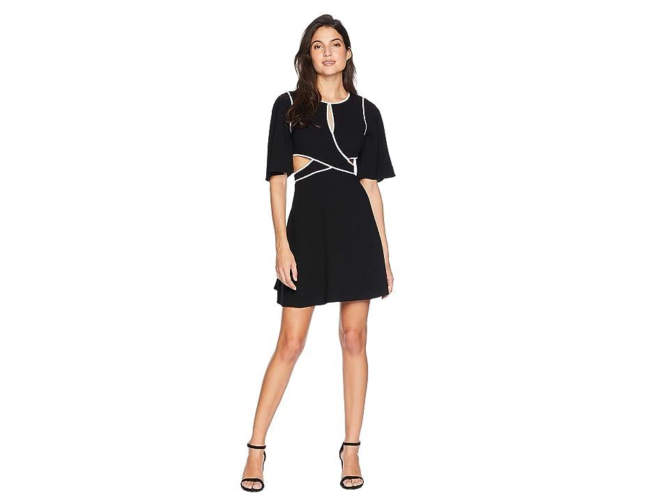 BCBGMAXAZRIA Gracelynn Cut Out Dress with Contrast (Black/Combo) Women