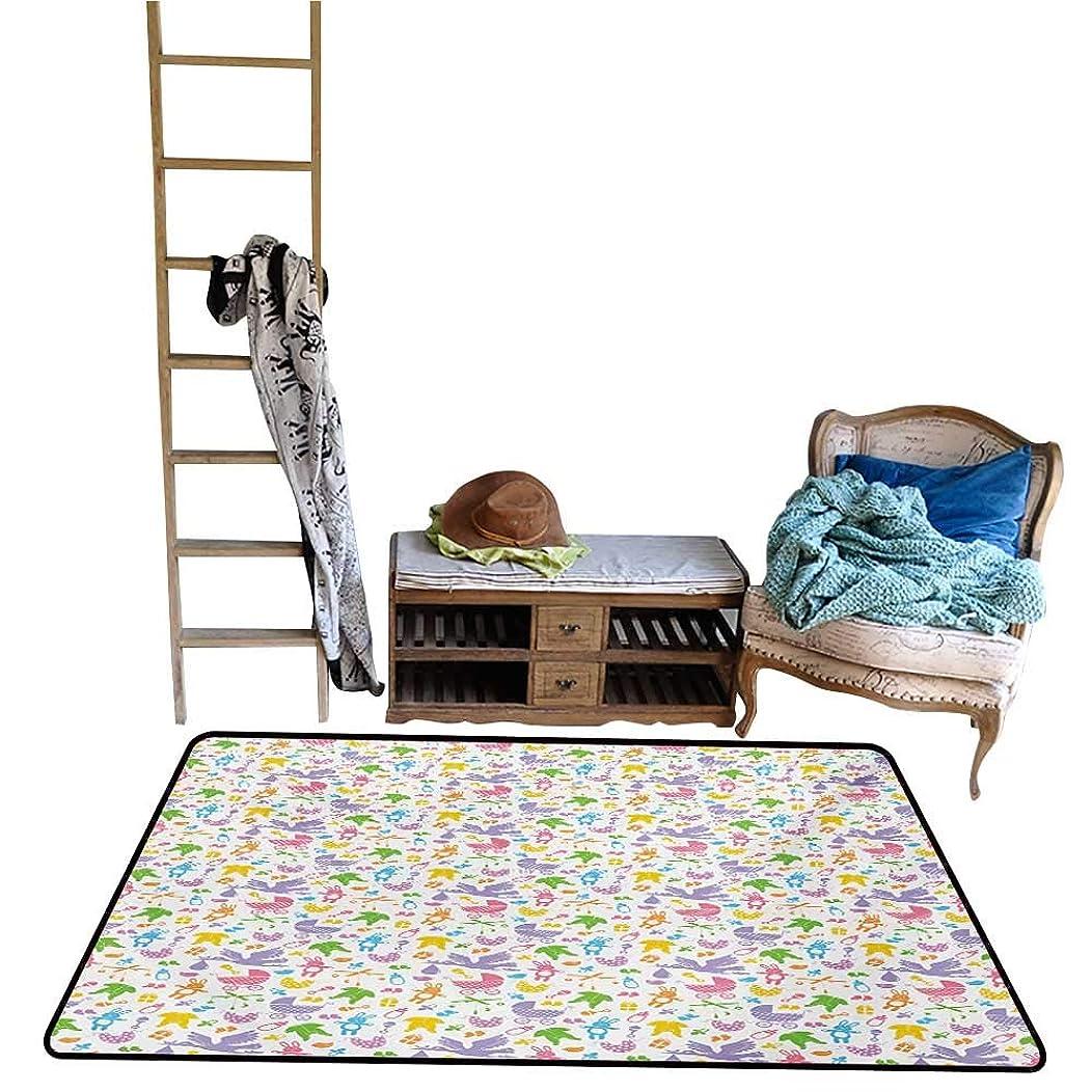Home Rugs Baby,Stork with Newborn Bunny Toys Milk Bottles Infant Item Silhouettes Stroller Cartoon,Multicolor.jpg 24