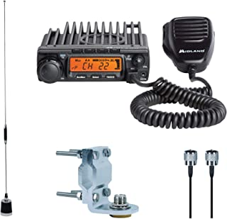 Midland - MXT400VP3, MicroMobile Bundle - MXT400 Two-Way Radio w/ 8 Repeater Channels, 142 Privacy Codes & 6dB Gain Antenna w/Antenna Mounting Bracket, MXTA8 6M Antenna Cord (Single Pack) (Black)