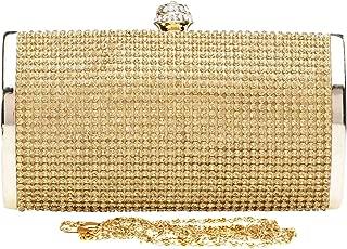 Wiwsi Luxury Rhinstones Crytal Women Clutch Evening Totes Bling Shoulder Handbag