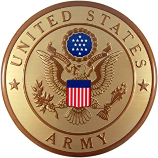 United States Military Army Metal Auto Decal Emblem, 4 Inch