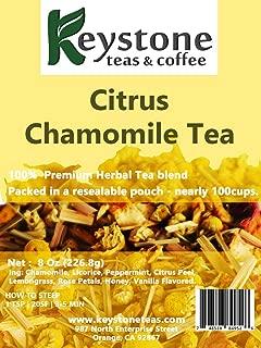 Citrus Chamomile Tea - 8Oz - Chamomile tea, Citrus and chamomile tea, Herbal Chamomile Tea with Peppermint Flavor (8 Oz)
