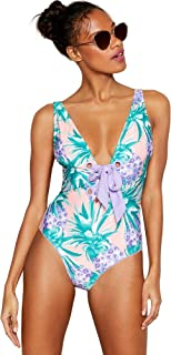 50e18bd60d Debenhams Floozie by Frost French Purple Pineapple Print 'Miami' Non-Wired  Padded Swimsuit
