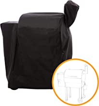 i COVER Pellet Grill Cover-Fits Traeger 22 Series Grill Smokers, Heavy Duty Water Proof Patio Outdoor Canvas Barbeque Grill Cover for Traeger 22 Series Lil Tex Elite, Pro, Eastwood, Black