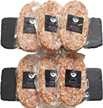bonbori (ぼんぼり) 究極のひき肉で作る 牛100% ハンバーグステーキ プレーン&チーズ 盛合せ (200g×6個入り / プレーン200g×3 / チーズ入り200g×3) ギフト