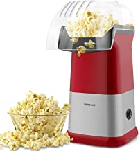 1200W Hot Air Popcorn Popper Maker with Measuring Cup, Electric Air Popcorn Machine with Detached Top Cover, Fast Popping, Healthy, for Party Watching Movie Use, Also a Ideal Birthday Gift