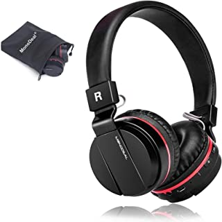 Active Noise Cancelling Wired/Wireless Bluetooth Headphones with Mic,Monodeal Foldable on The Ear Headset,Soft Memory-Prot...