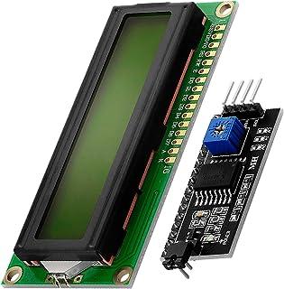 AZDelivery Modulo Pantalla LCD Display Verde HD44780 1602 con interfaz I2C 16x2 caracteres negros compatible con Arduino c...