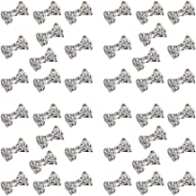 Polytree 50pcs Women's 3d Special Charming Clear Rhinestone Alloy Bow Tie Nail Art Slices DIY Decorations